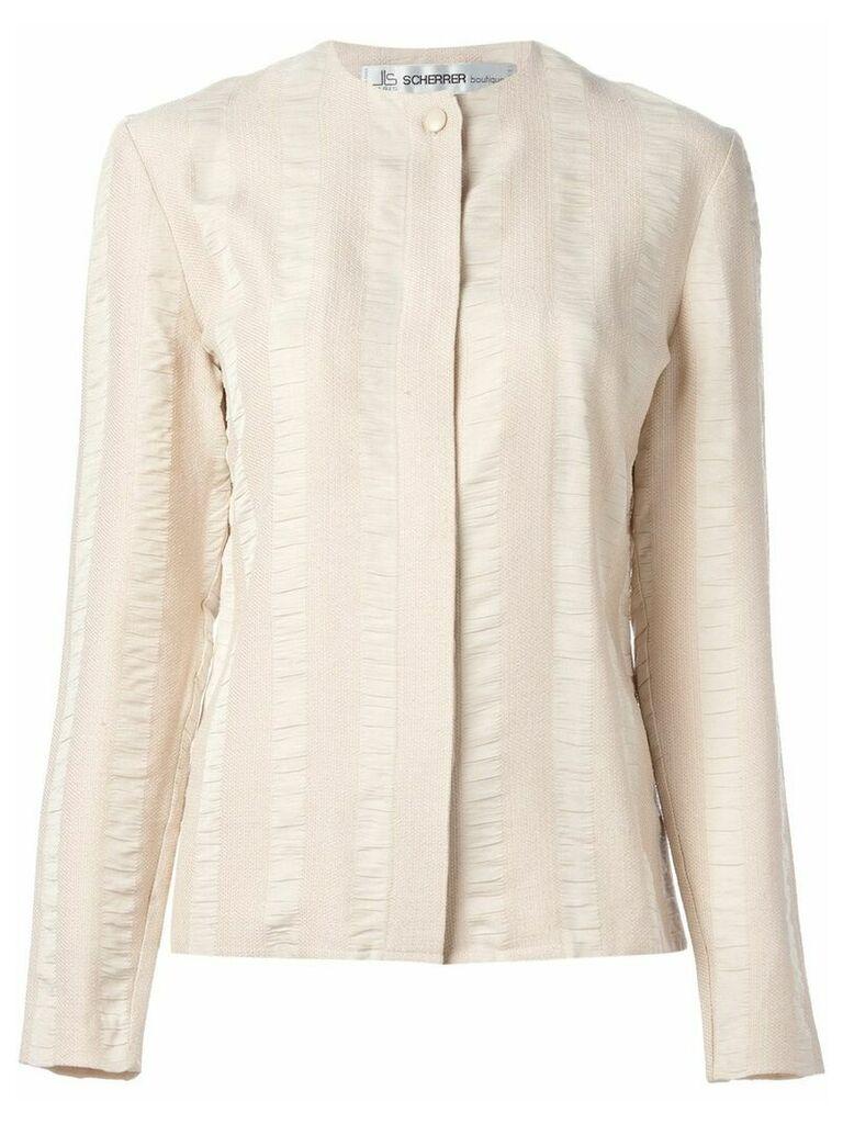 Jean Louis Scherrer Vintage striped crepe blouse - Pink