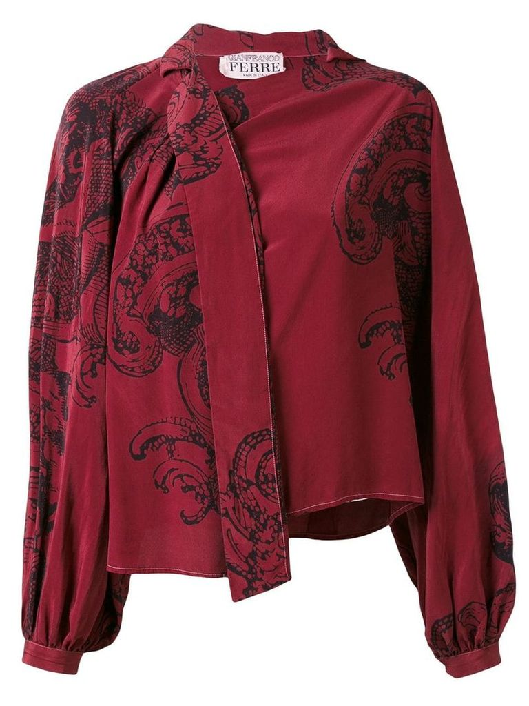 Gianfranco Ferre Vintage printed shirt - Red