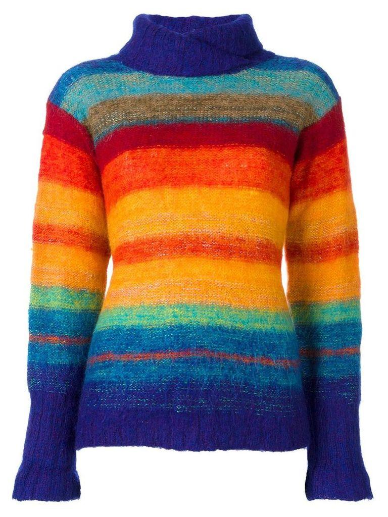 Kansai Yamamoto Vintage rainbow knit jumper - Multicolour