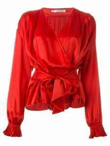 Christian Dior Pre-Owned wrap blouse - Red