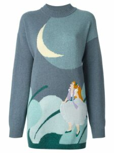 JC de Castelbajac Pre-Owned Thumbelina jumper - Blue