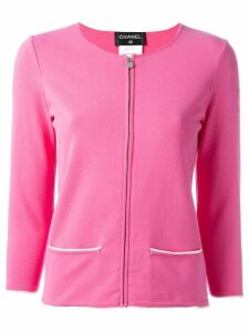 CHANEL PRE-OWNED zipped cardigan - Pink
