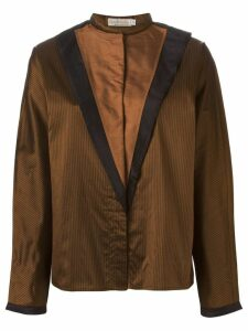 Versace Pre-Owned front panel blouse - Brown