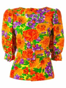 GIVENCHY PRE-OWNED floral print belted top - Multicolour