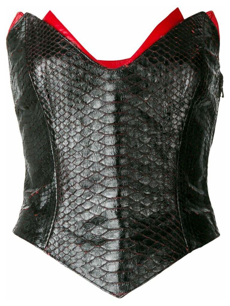 Thierry Mugler Vintage corset - Black