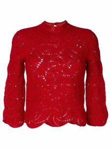 Comme Des Garçons Pre-Owned crochet sweater - Red