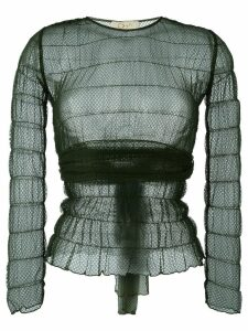 Romeo Gigli Pre-Owned lace sheer blouse - Green