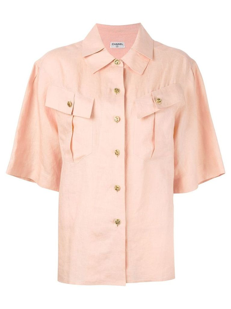 Chanel Vintage pleated collar shirt - Neutrals