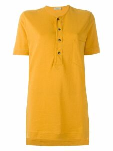 Romeo Gigli Pre-Owned henley T-shirt - Yellow