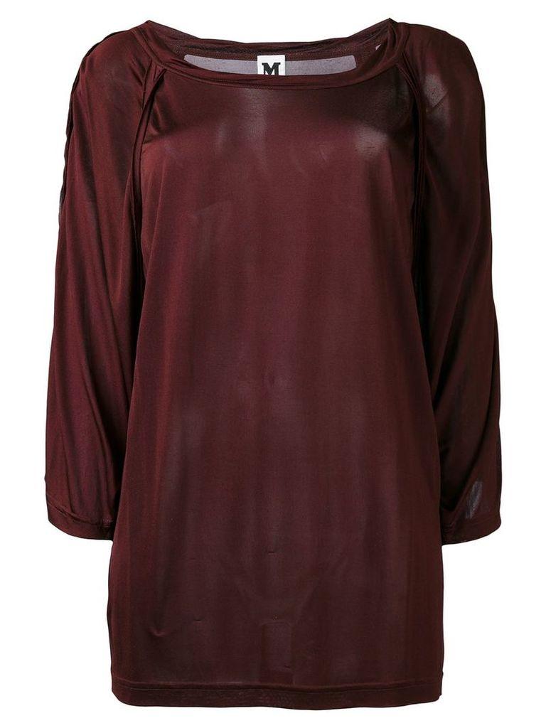 Missoni Vintage slash neck knitted top - Red