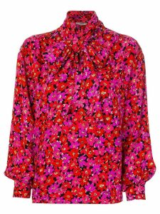 Yves Saint Laurent Pre-Owned 1990's floral print blouse - Red