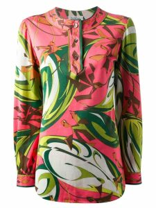 Emilio Pucci Pre-Owned abstract floral top - Pink