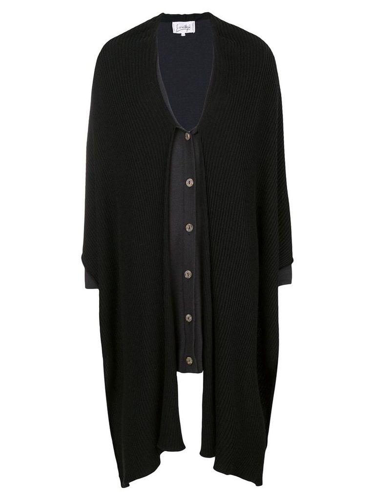 Jc De Castelbajac Vintage two tone buttoned cardigan - Black