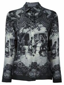 Jean Paul Gaultier Pre-Owned medieval print shirt - Grey