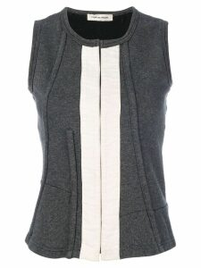 Comme Des Garçons Pre-Owned concealed fastening waistcoat - Grey