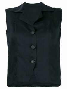 BALENCIAGA PRE-OWNED tailored waistcoat - Black