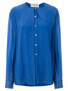 Gianfranco Ferre Pre-Owned collarless shirt - Blue