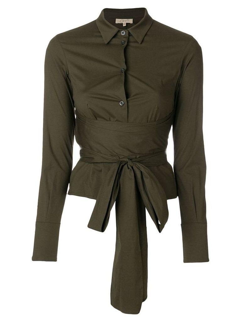 Romeo Gigli Vintage belted waist shirt - Green