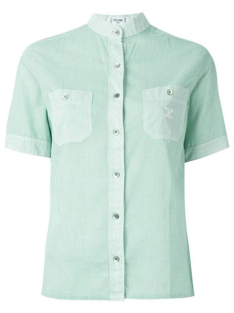 Céline Vintage gingham check shirt - Green