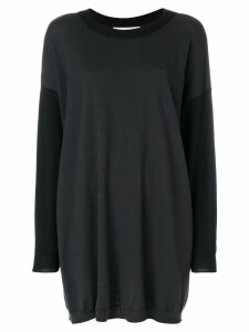 JC de Castelbajac Pre-Owned oversized knitted sweater - Black