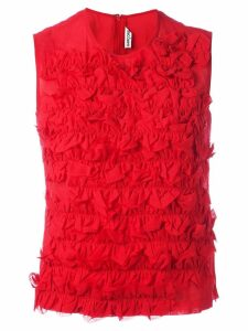 Comme Des Garçons Pre-Owned ruffle detailed top - Red