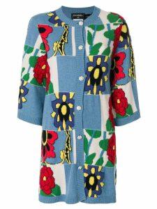 Chanel Vintage floral cashmere cardi-coat - Multicolour