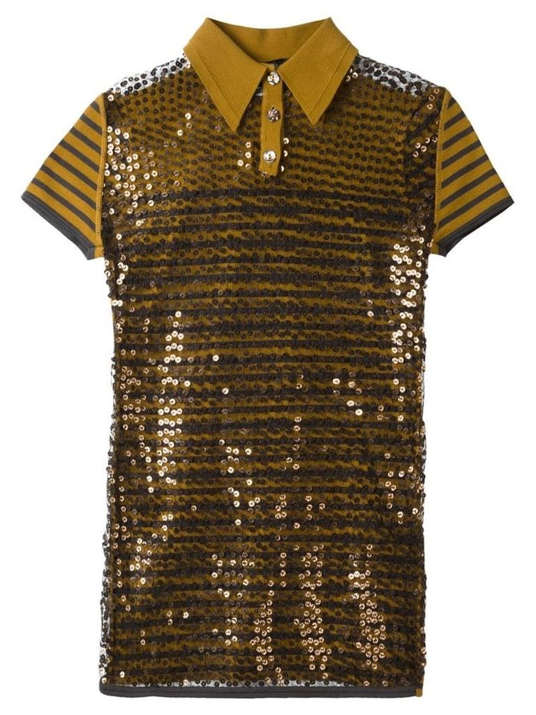 Jean Paul Gaultier Vintage sequinned polo shirt - Brown