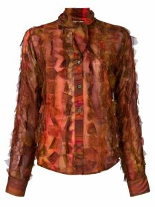 Romeo Gigli Pre-Owned pussy bow ruffled shirt - Multicolour