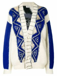 KANSAI YAMAMOTO PRE-OWNED embroidered loose fit cardigan - Neutrals
