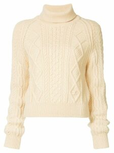 Chanel Pre-Owned fisherman roll neck sweater - Neutrals