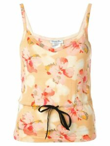 Christian Dior Pre-Owned floral print top - Multicolour