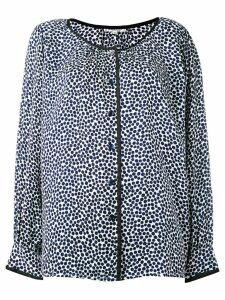 Yves Saint Laurent Pre-Owned dotted blouse - Blue