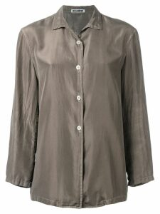 Jil Sander Pre-Owned silk shirt - Brown