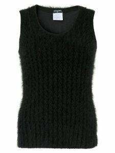 Chanel Pre-Owned CC logos sleeveless vest - Black