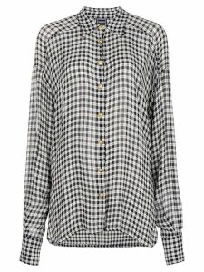 Versace Pre-Owned gingham checked shirt - Black