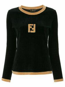 Fendi Pre-Owned FF logo longsleeved top - Black