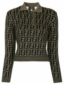 Fendi Pre-Owned Zucca pattern jumper - Black