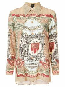 JEAN PAUL GAULTIER PRE-OWNED printed long sleeve shirt - Brown