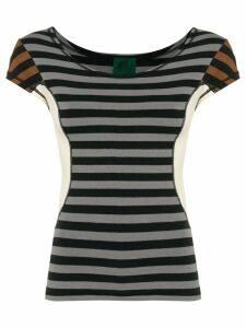 Jean Paul Gaultier Pre-Owned colour block striped T-shirt -