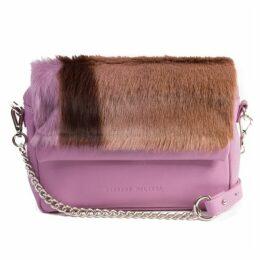 SHERENE MELINDA Lavender Shoulder Bag With A Stripe