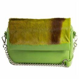 SHERENE MELINDA Lime Shoulder Bag With A Stripe
