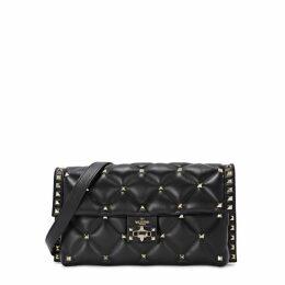 Valentino Garavani Candystud Black Leather Shoulder Bag