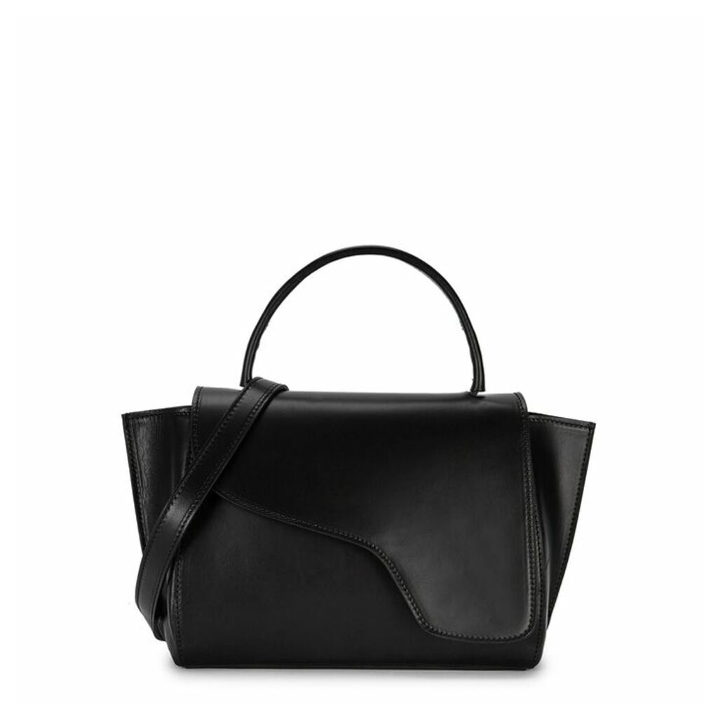 ATP Atelier Arezzo Black Leather Shoulder Bag