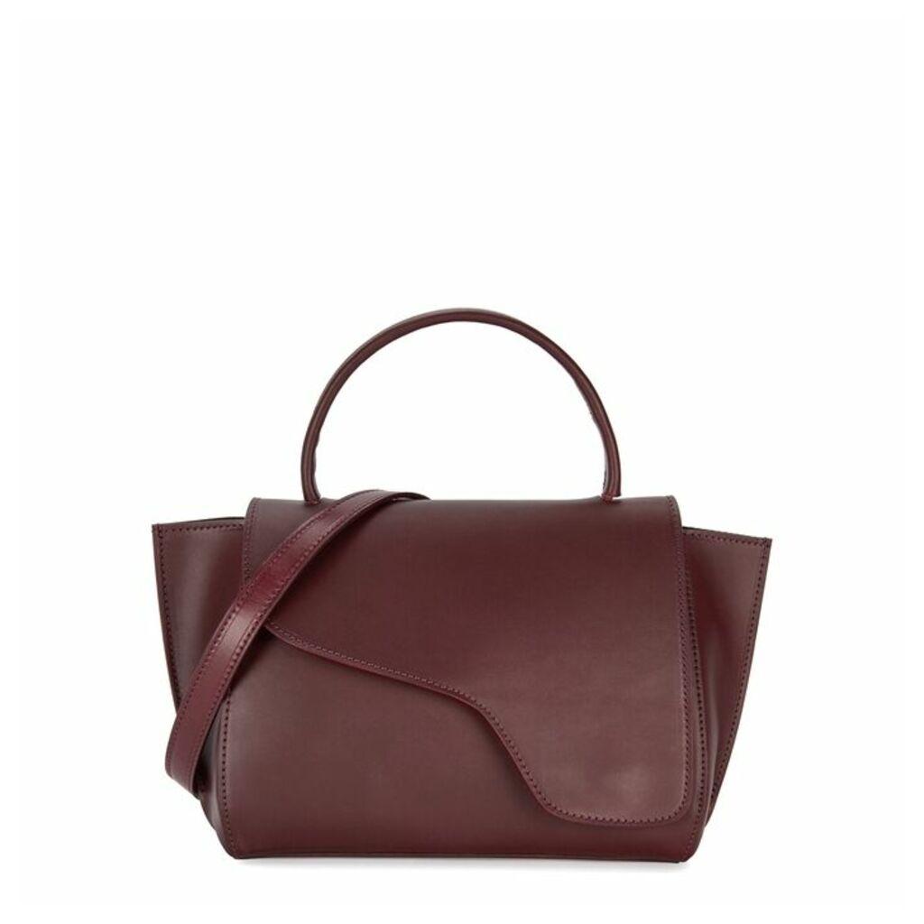 ATP Atelier Arezzo Burgundy Leather Shoulder Bag