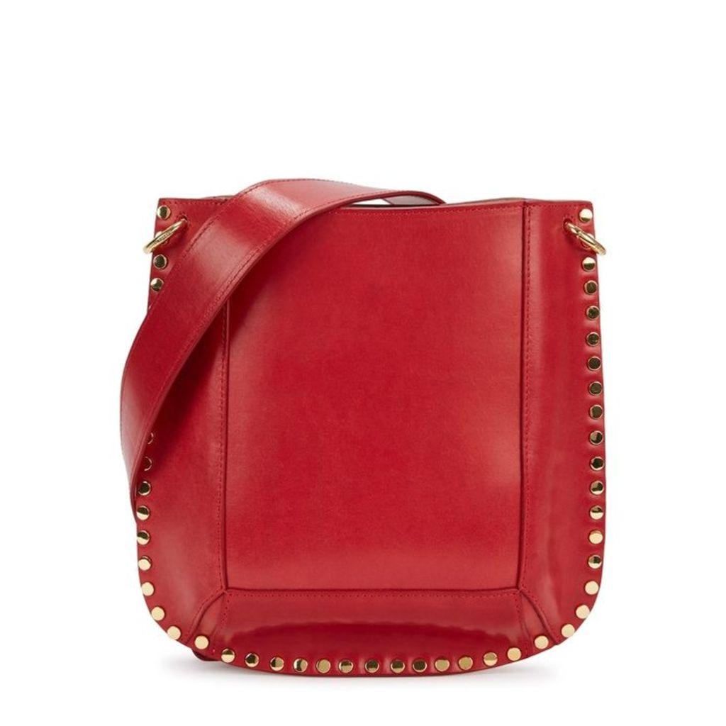 Isabel Marant Oskan Red Leather Shoulder Bag