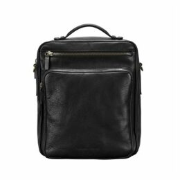 Maxwell Scott Bags Men S Black Large Leather Backpack With Strap