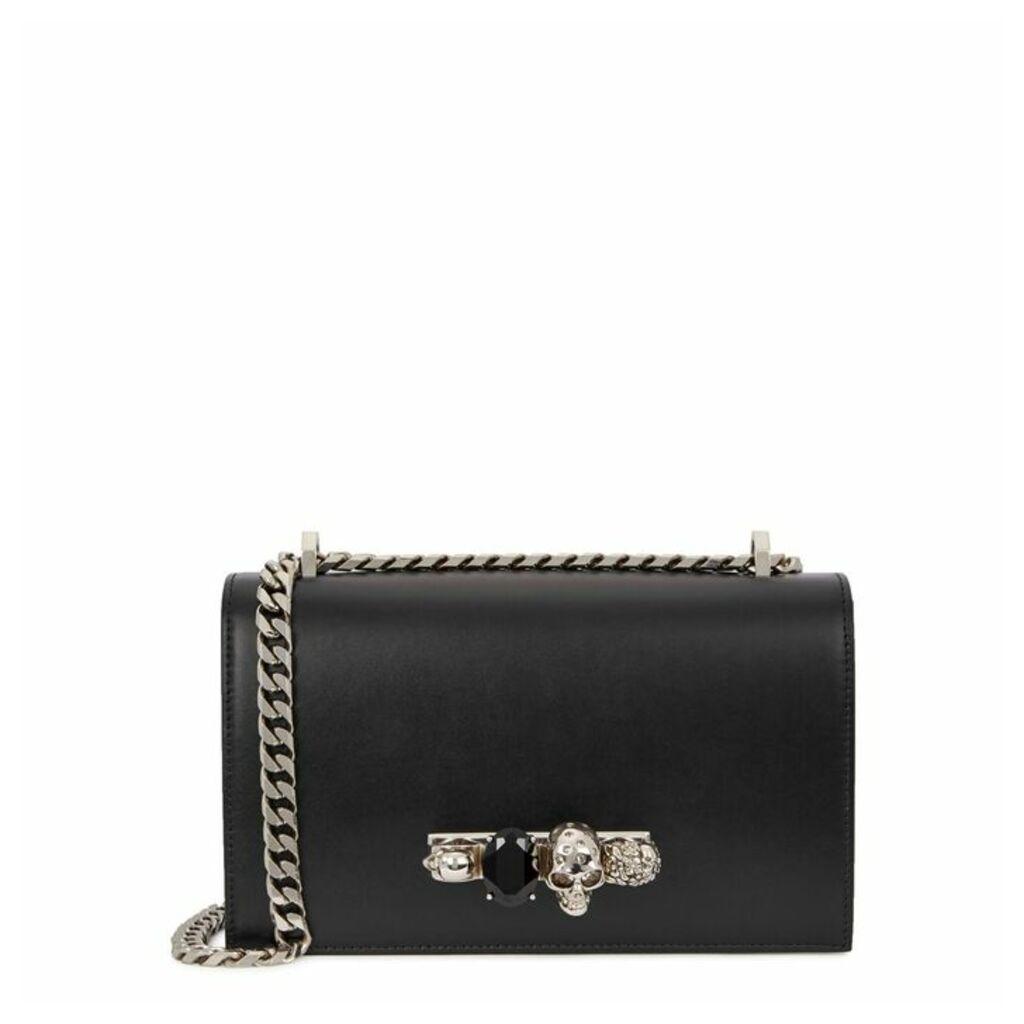 Alexander McQueen Jewelled Satchel Leather Shoulder Bag