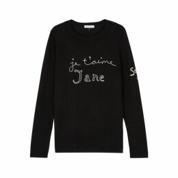 BELLA FREUD Je T'aime Jane Black Wool Jumper