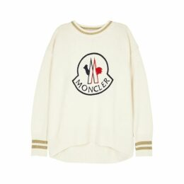 Moncler Ivory Logo-embroidered Jumper