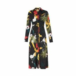 Kitri Phoenix Floral Tie Waist Shirt Dress